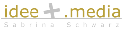 Logo idee +.media Sabrina Schwarz